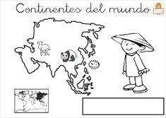 """Proyecto """"La vuelta al mundo"""". Fichas para imprimir. Third Grade, Continents, Habitats, Flag, Activities, Education, Comics, Homeschooling, Teacher"""