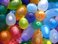 kid activities, water balloons, white shirts, beach party, potato, team bride, neon colors, game, parti