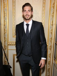 PSG player Kevin Trapp wears BOSS tailoring to the French GQ Man of the Year awards in Paris.