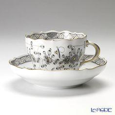 マイセン(Meissen) インドの華 ブラック 343010/00582コーヒーカップ&ソーサー 200cc