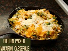 Super easy! Must try! Protein Packed Macaroni Casserole #recipe