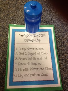 "Fluttering Through First Grade: The Domino Effect ""Can I get a drink?"" How to avoid."