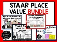 This bundle includes: Decimal Place Value Name Activity Place Value Foldable Place Value Scoot Place Value Station...