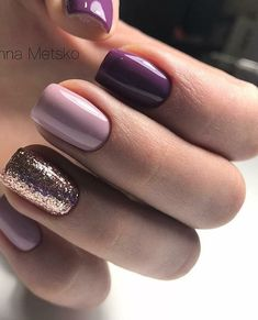 Nails Sencillas Moradas 37 Ideas Best Picture For nail blue gelish For Your Taste You are loo Stylish Nails, Trendy Nails, Cute Nails, Hair And Nails, My Nails, Nails Yellow, Purple Gel Nails, Dipped Nails, Manicure E Pedicure