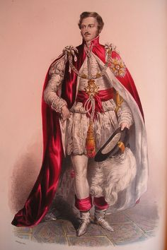 Prince Albert, the Prince Consort, wearing the robes of a Knight Grand Cross of the Order of the Bath