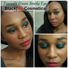 Emerald Green Smoky Eye Black|Up Cosmetics #blackUpCosmetics #thebeautycouncil
