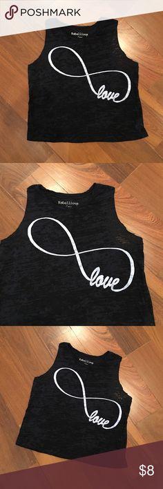 Infinity Love Crop Top Size S Tops Crop Tops