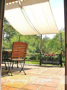 Deck Shade, Backyard Shade, Outdoor Shade, Canopy Outdoor, Backyard Patio, Backyard Landscaping, Outdoor Decor, Outdoor Curtains, Patio Design