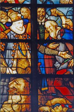 The Sint Janskerk church, Gouda has this commemorative window of William to celebrate the relief of Leiden.