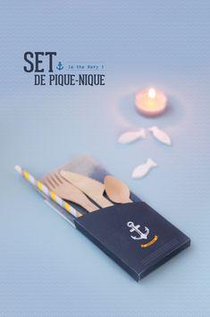 """DIY picnic set 'In the navy"""""""