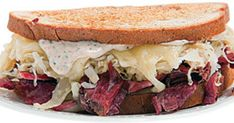 The key to this grilled corned beef, Swiss, and sauerkraut sandwich is making the rich, tangy dressing from scratch. See the recipe