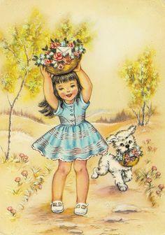 girl and dog   par Paicil