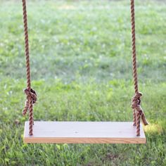 A tutorial for making this simple and fun wooden tree swing.
