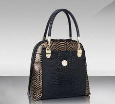 Women's Snakeskin Handbag Shoulder Tote Purse Leather Ladies Messenger Bag Beauty Cosmetics Makeup Skin Care Products