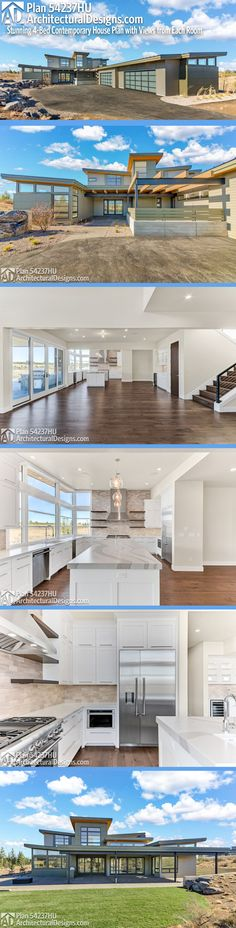 new Ideas house plans contemporary modern layout Contemporary House Plans, Modern House Plans, Home Design Plans, Plan Design, 4 Bedroom House Plans, Open Concept Floor Plans, Modern Baths, Modern Pictures, Sims 4