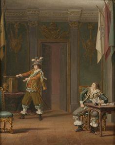 Gustaf Mauritz Armfelt och Carl Adam Wrangel af Adinal (Pehr Hilleström d.ä.)-Nationalmuseum -