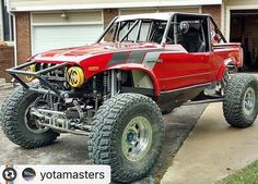 We can not want to see this beast in person at King of the Hammer 2017! #Reposting @yotamasters -- @deuxfeathers getting prepped for Reno and looking sexier than ever!!! Good luck guys!!! . #yotamasters #ultra4 #4500 #toyota #racecar #lcengineering #turbo #3rz #inboostwetrust #hilux #classic #becauseracecar http://ift.tt/2e5sGFo