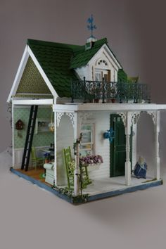Yuuki's House | Jen-spec-industries.com | beautiful Victorian gingerbread cottage doll house