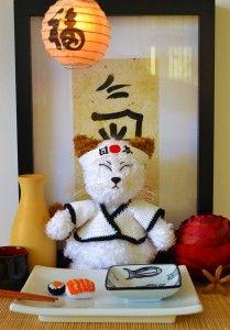#crochet, free pattern, amigirumi, Hiroshi, the Sushicat (Sushiman), stuffed toy, #haken, gratis patroon (Engels), kat, japans, knuffel, speelgoed, #haakpatroon, heel veel leuke gratis patronen op deze site!