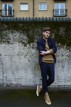 Iwan Rheon for The Laterals, 2016 | Jumper, jacket, trousers & shoes by WHISTLES.