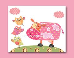 Baby Girl Nursery Decor girl nursery art baby girl by artbynataera