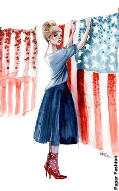 NewYorkDress Blog: Happy Memorial Day Weekend! Click through for some Memorial Day Fashion and Fun! // Illustration by Paper Fashion