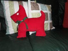 Scotty dog pillow, Mary Engelbreit