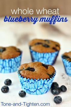 Whole Wheat Blueberry Muffins from Tone-and-Tighten.com - even my picky eaters loved these!