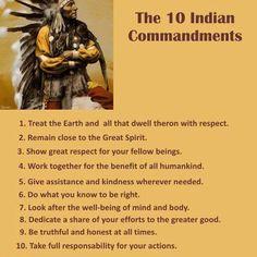 The 10 Indian Commandments