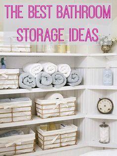 The Best Bathroom Storage Ideas | Love Chic Living