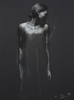 Ciprana standing, pastel & collage, 32ins x 24ins. | Mark Demsteader |