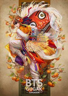 Indian Women Painting, V Chibi, Bts Shirt, Lion Dance, Bts Concert, Art Series, Bts Playlist, Bts Fans, Woman Painting