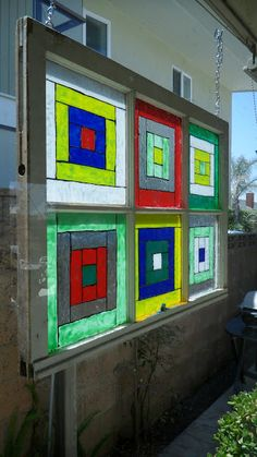 Recyled Stained Glass Window