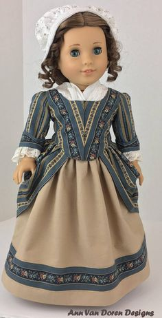 """18th Century Outfit, made for 18"""" dolls such as American Girl® by AVD"""