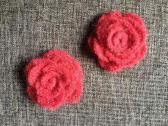 Blumen Brosche häkeln, crochet rose brooch #diy #crochet #häkeln #rose