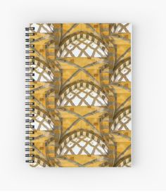The Golden Arches of the Amalfi Cathedral in Amalfi, Italy Spiral Notebook #notebook #art #decor #architecture #Amalfi #Italy by Jacqueline Cooper- This image of Looking up at the ceiling in the entrance of the Amalfi Cathedral on the Amalfi Coast in Italy is an architectural dream. This image can be purchased as a print and on many great products. Just click on the visit link. For more inspirational images and mindful reads visit myaspiringsoulfullife.com.