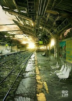 old abandoned train station.