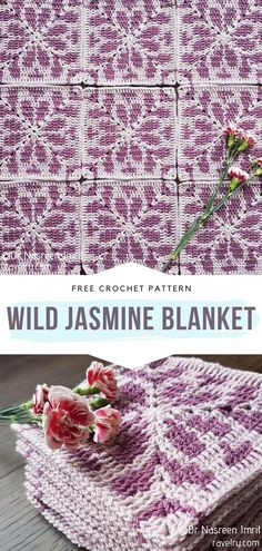 How to Crochet Wild Jasmine Blanket - - Crochet Flower Tapestry Squares to make your house bloom this spring! Just imagine all the blankets, bedspreads and throws you can make using these lovely. Tapestry Crochet Patterns, Granny Square Crochet Pattern, Crochet Granny, Crochet Motif, Crochet Flowers, Free Crochet, Crochet Baby, Knit Crochet, Crochet Squares Afghan