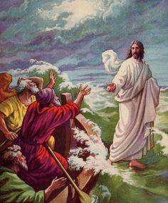 Jesus que anda na Água Wallpaper Jesus caminha sobre a água,
