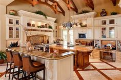 This Mediterranean style mansion is located at 11601 Charisma Way in the Old Palm Golf Club in Palm Beach Gardens, FL. Built in the square foot home features 6 bedrooms, 8 bathrooms, detailed Kitchen Interior, Kitchen Decor, Kitchen Design, Kitchen Ideas, Luxury Kitchens, Cool Kitchens, Dream Kitchens, The House On Mango Street, Modern Kitchens