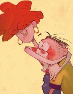 "bloochikineene: "" In this case, don't think he minds a hug from Lee or being short. Couple Cartoon, Girl Cartoon, Cartoon Art, Ed And Eddy, Ed Edd N Eddy, Nickelodeon Cartoons, Old Cartoons, Old Cartoon Shows, Du Dudu E Edu"