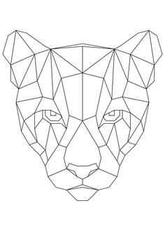 Geometric Drawing, Geometric Art, Geometric Animal, Art Drawings Sketches, Animal Drawings, Polygon Art, Nature Posters, Pen Art, Print Artist