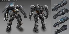 a military mech designed to steal enemy electricity.
