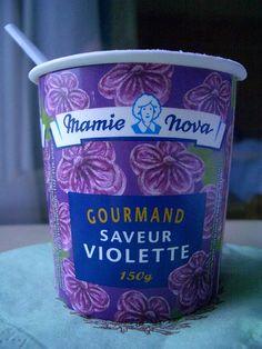 ❥ Mamie Nova's {French} Violet yogurt