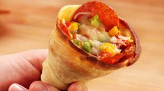 Want to make pizza cones? Pick up a sleeve of paper cone cups! They're all the rage in Europe right now. http://www.sciplus.com/p/SOLO-PAPER-CONE-CUPS_56364
