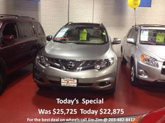 2011 Nissan Murano SL AWD, Leather, BT, Bose, only 25K miles! For the best deal on wheels call Jim Zim @ 203-482-8417