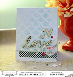 Teresa Collins Design Team: Save the Date Cards by Tessa Wise @Tessa Wise
