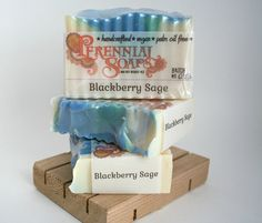 Blackberry Sage Soap - Vegan Artisan Soap with Shea and Cocoa Butter    A truly unique scent! Sweet blackberry mixed with an herbal sage. A