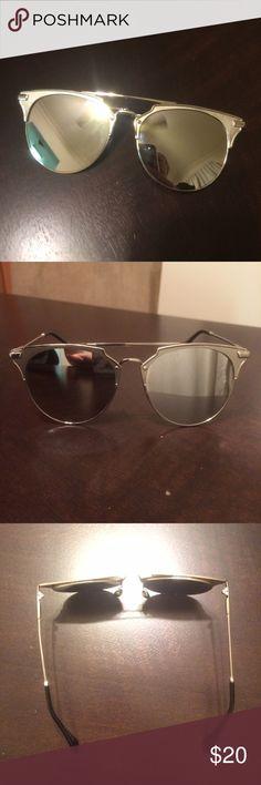 6f85d969087 Silver Reflective Sunglasses Silver Reflective Sunglasses - silver with  black arms - never worn - very