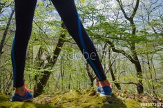 sports in the woods / walking in the woods